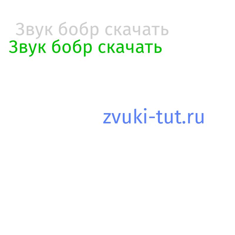 бобр Звук