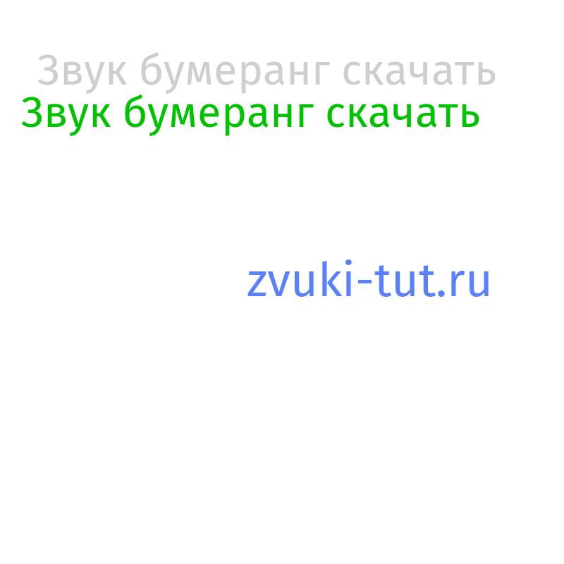 бумеранг Звук