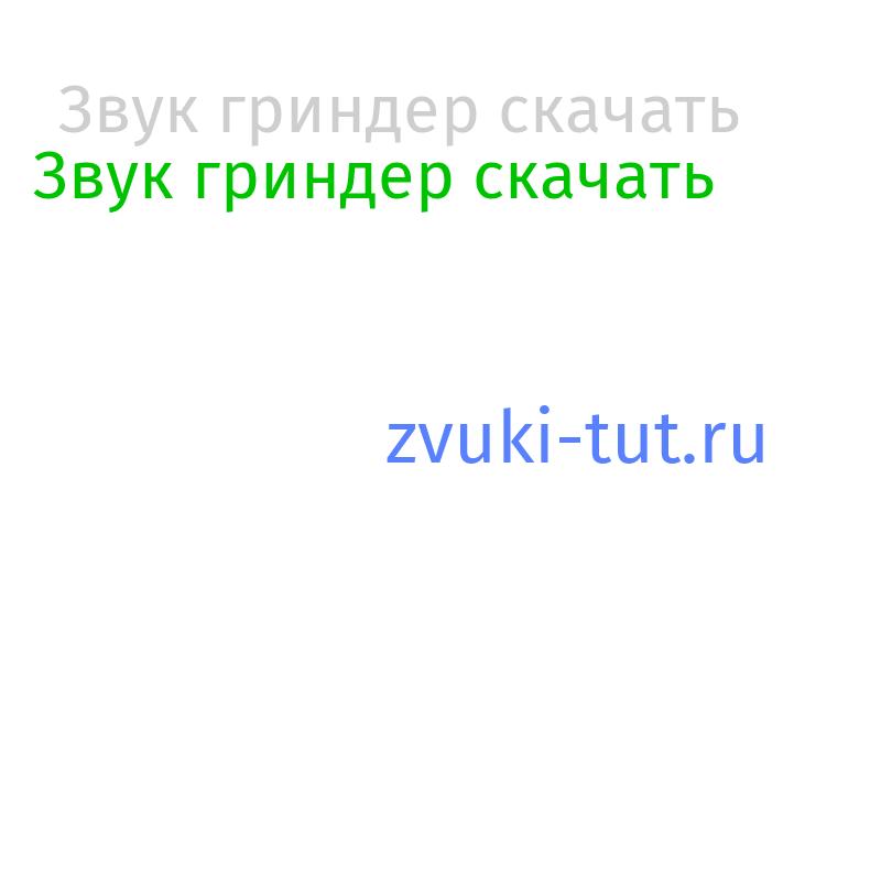 гриндер Звук