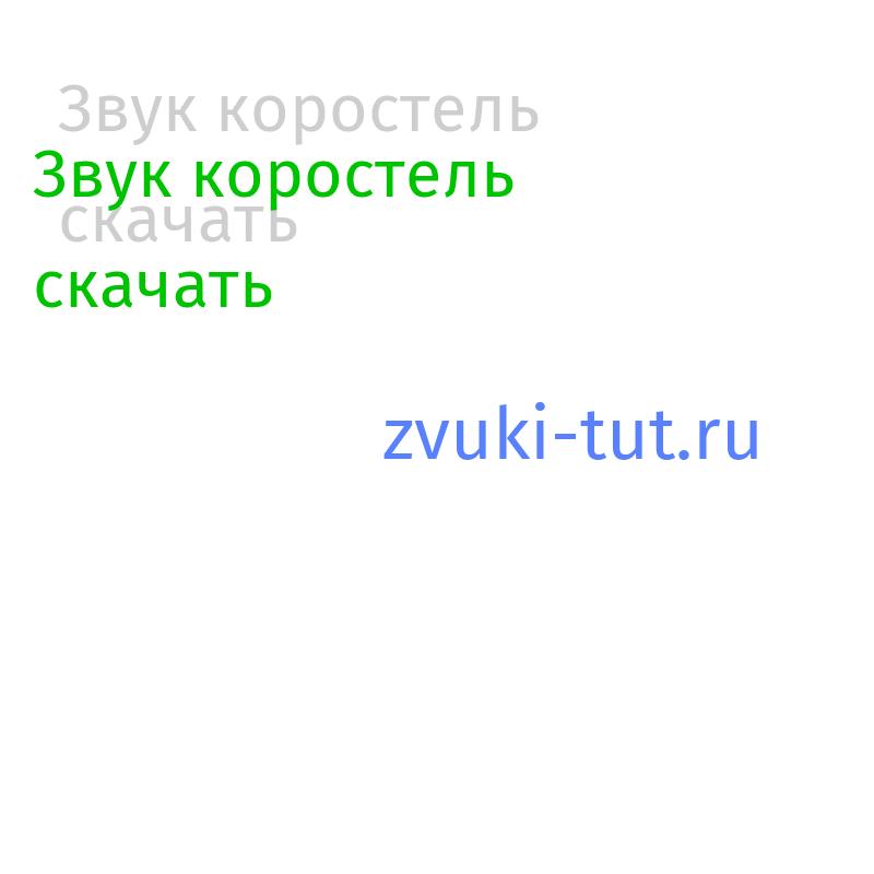 коростель Звук