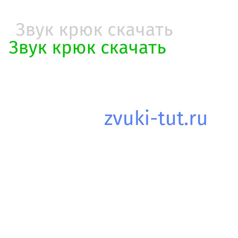 крюк Звук