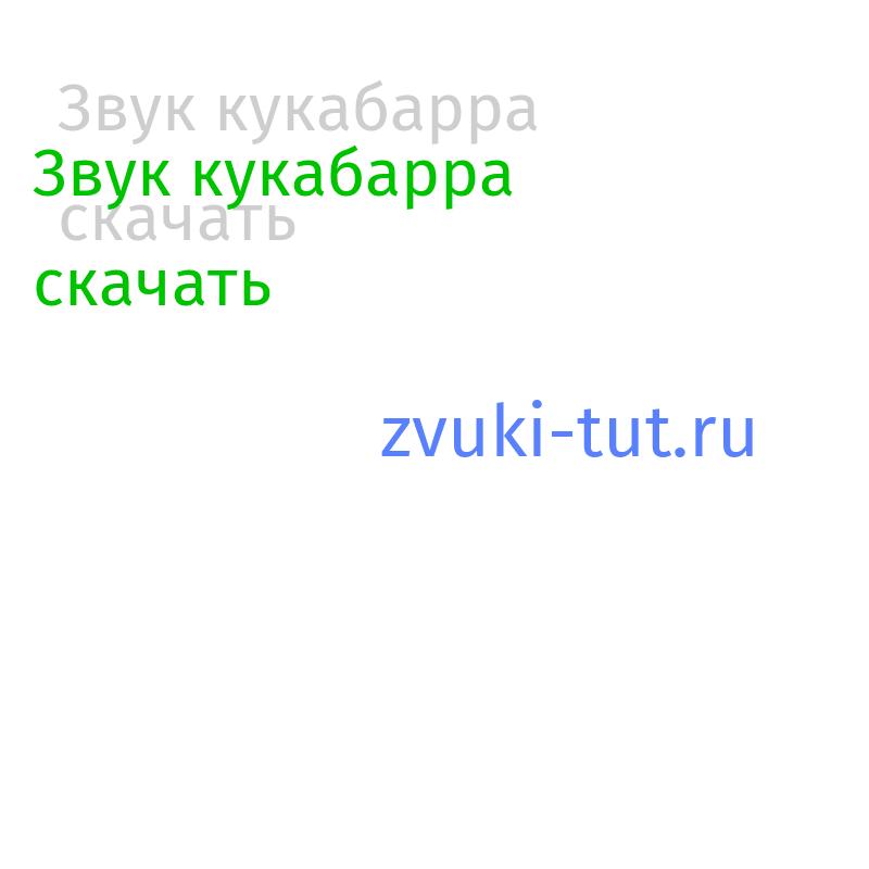 кукабарра Звук