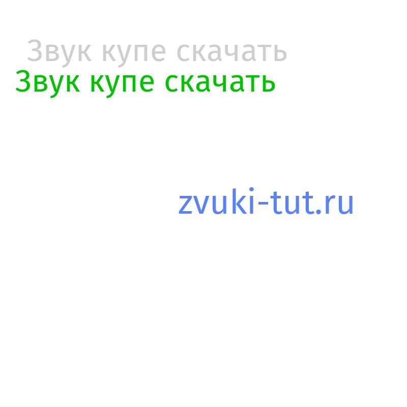 купе Звук
