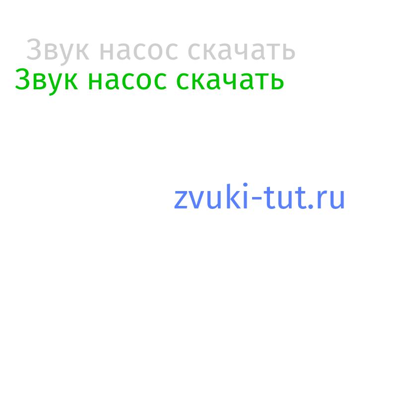 насос Звук