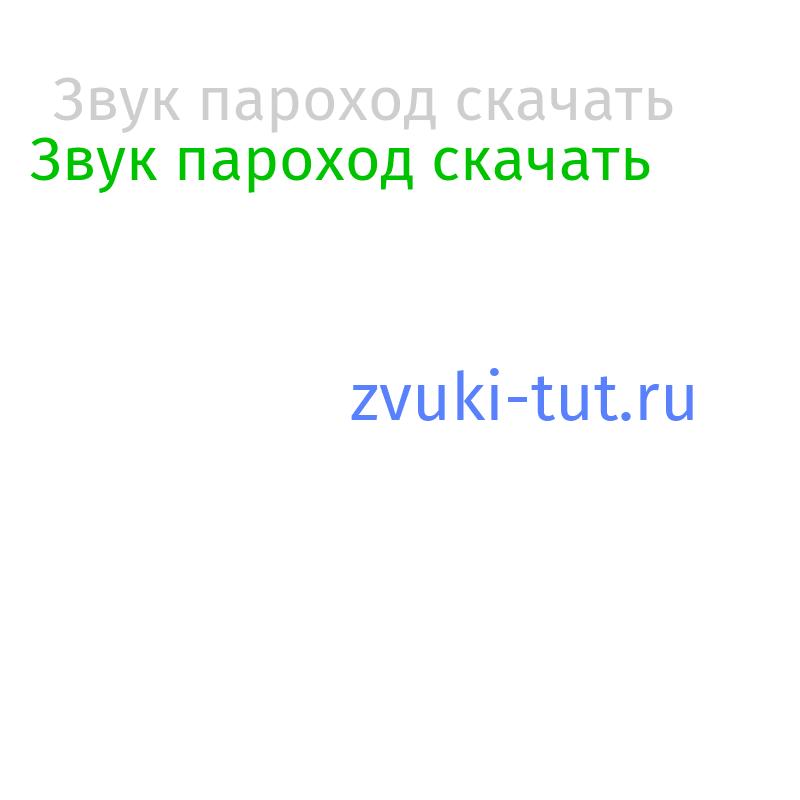 пароход Звук