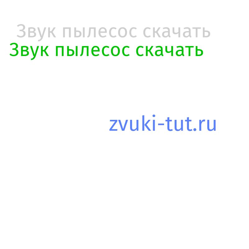 пылесос Звук