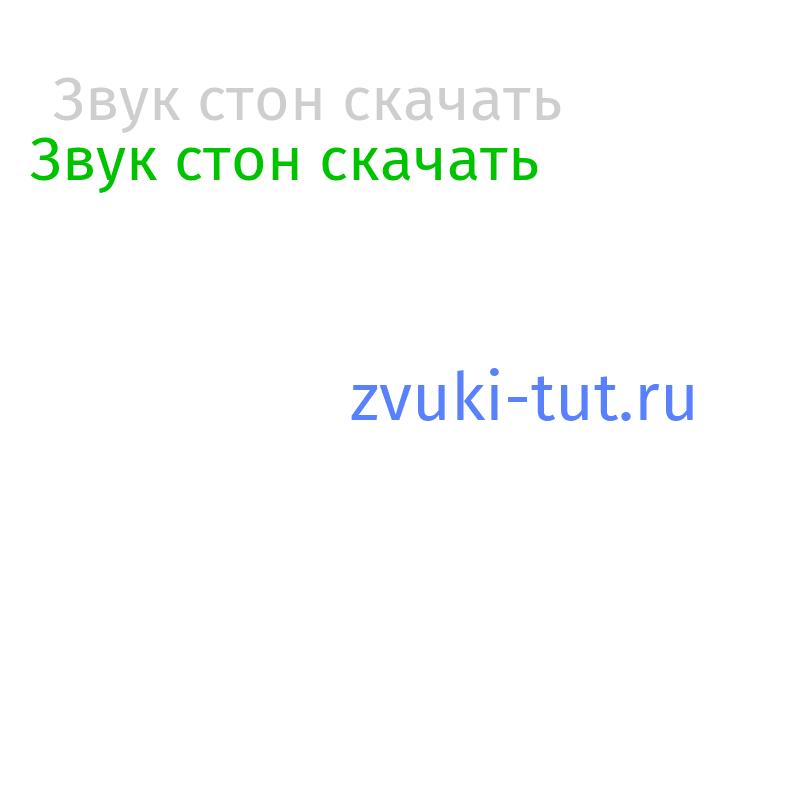 стон Звук