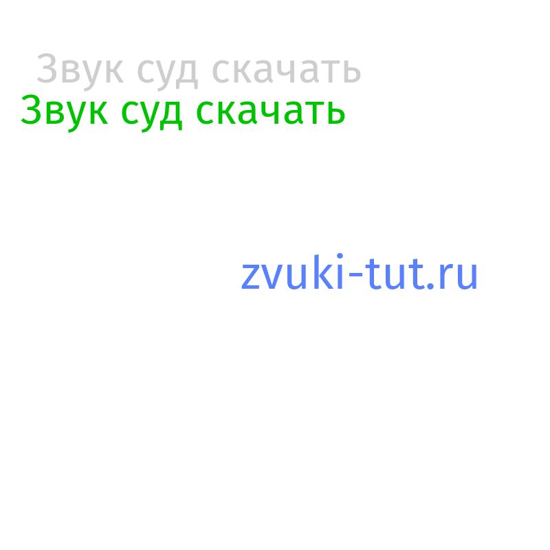 суд Звук