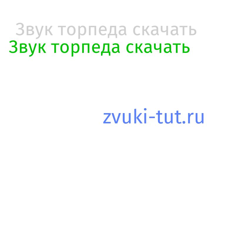 торпеда Звук