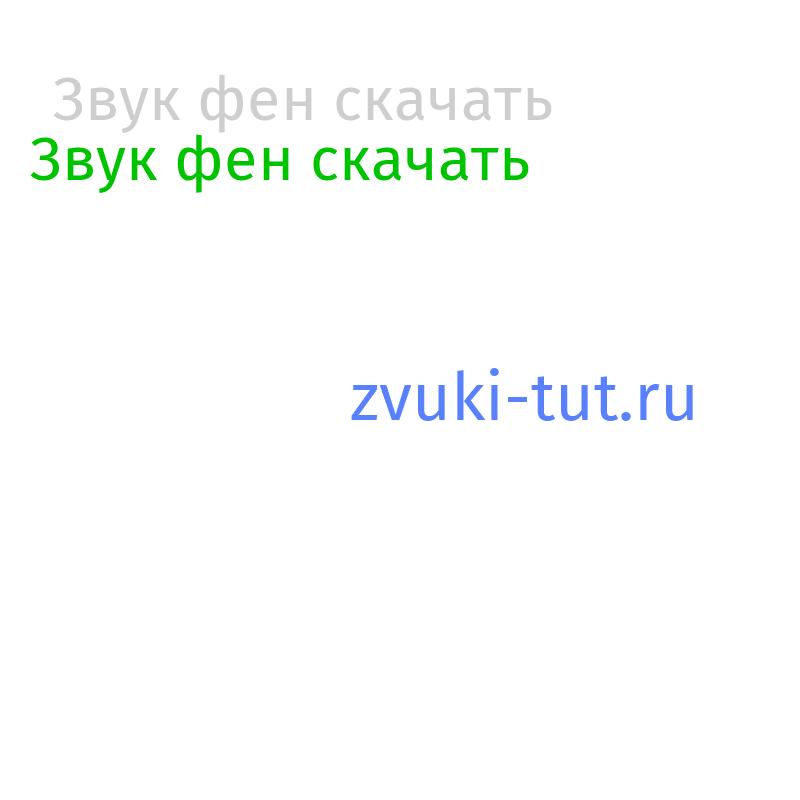 фен Звук