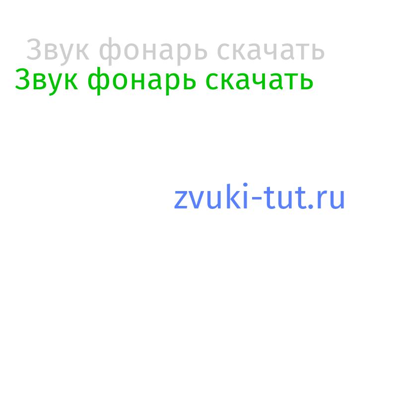 фонарь Звук